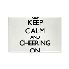 Keep Calm and Cheering ON Magnets