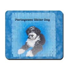 Portuguese Water Dog Black wi Mousepad