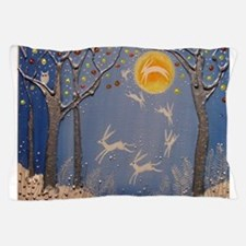 Dance of the moon hares Pillow Case