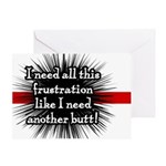 Banded Frustration Greeting Card