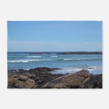 Maine coastline 5'x7'Area Rug