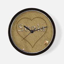 Sonia Beach Love Wall Clock