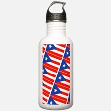 Puerto Rican Flag Bori Water Bottle
