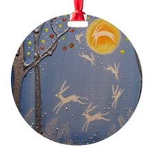 Dance of the moon hares Ornament