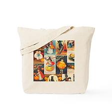 TLK014 Halloween Collage Tote Bag