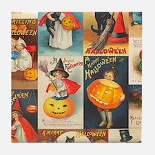 TLK014 Halloween Collage Tile Coaster
