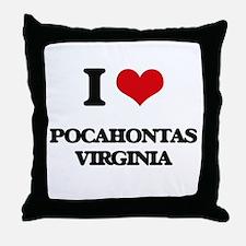I love Pocahontas Virginia Throw Pillow