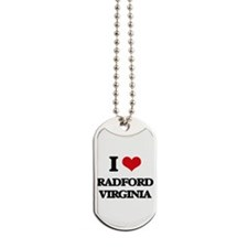 I love Radford Virginia Dog Tags