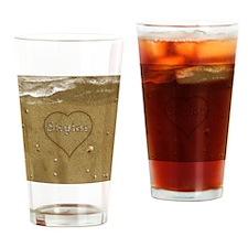 Skylar Beach Love Drinking Glass