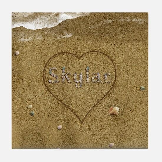 Skylar Beach Love Tile Coaster