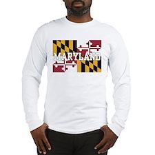 Maryland State Flag Long Sleeve T-Shirt
