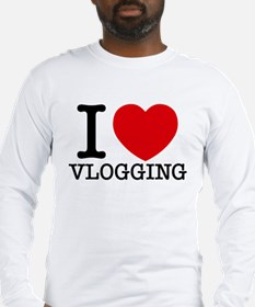 I Love Vlogging Long Sleeve T-Shirt
