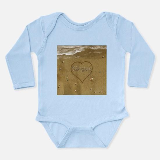 Singer Beach Love Long Sleeve Infant Bodysuit