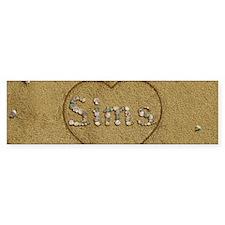 Sims Beach Love Bumper Sticker