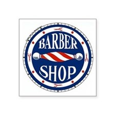 "Barber Shop Square Sticker 3"" x 3"""