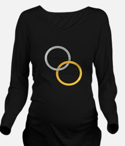 Silver & Gold Long Sleeve Maternity T-Shirt