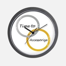 Time to Accessorize Wall Clock
