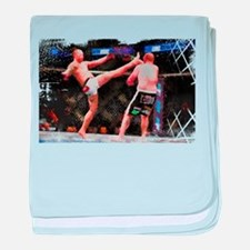 Mixed Martial Arts - A Kick to the He baby blanket