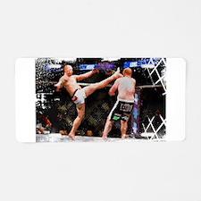 Mixed Martial Arts - A Kick Aluminum License Plate