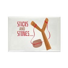 Sticks and Stones Magnets