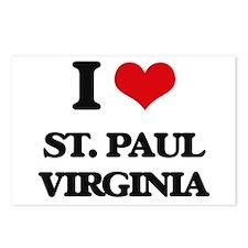 I love St. Paul Virginia Postcards (Package of 8)