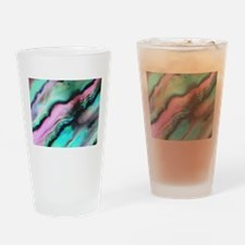 Pink & Green Seashell Colors Drinking Glass