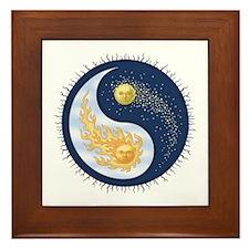 Sun-Moon Framed Tile