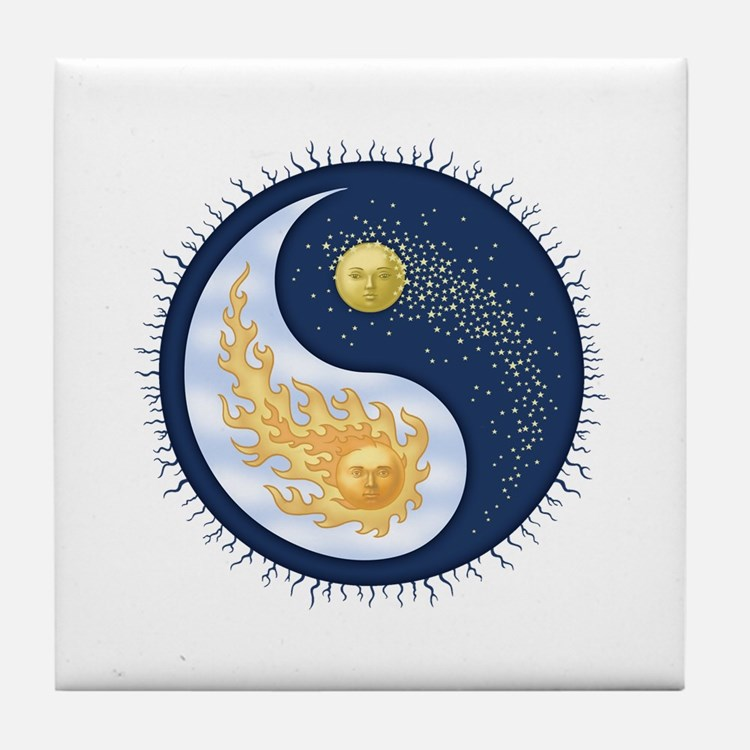 Sun-Moon Tile Coaster