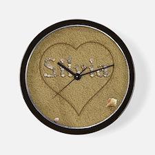 Silvia Beach Love Wall Clock