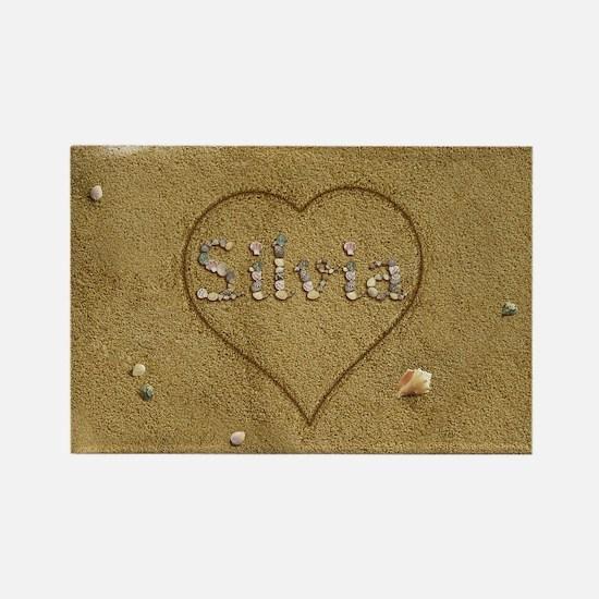 Silvia Beach Love Rectangle Magnet
