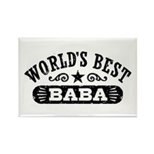World's Best Baba Rectangle Magnet