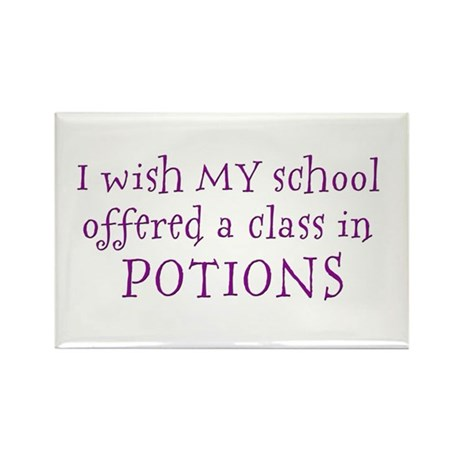 Class in potions Rectangle Magnet