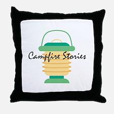 Campfire Stories Throw Pillow