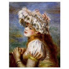 Renoir - Girl in a Lace Hat Poster