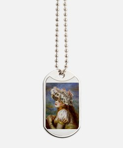 Renoir - Girl in a Lace Hat Dog Tags