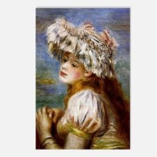 Renoir - Girl in a Lace H Postcards (Package of 8)