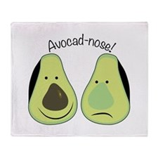 Avocad-nose! Throw Blanket