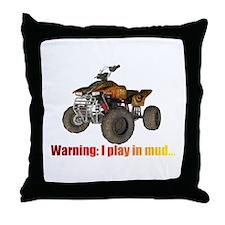 Cool Quad biking Throw Pillow
