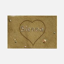 Sienna Beach Love Rectangle Magnet