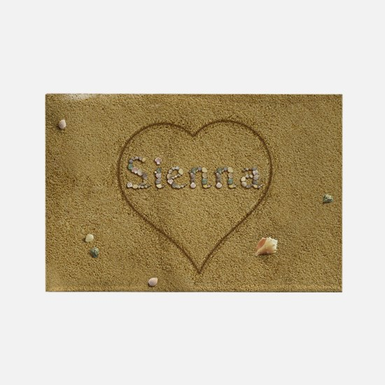 Sienna Beach Love Rectangle Magnet