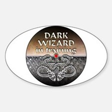 Dark Wizard Oval Decal