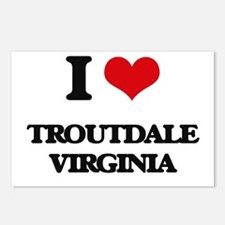 I love Troutdale Virginia Postcards (Package of 8)