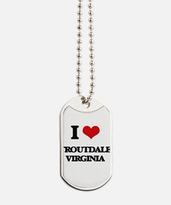 I love Troutdale Virginia Dog Tags