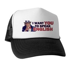Uncle Sam says Speak English! Trucker Hat