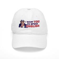 Uncle Sam says Speak English! Baseball Cap
