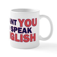 Uncle Sam says Speak English! Mug