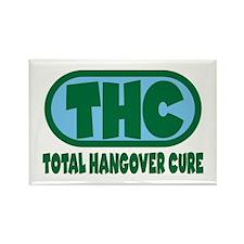 THC - Green/Blue logo Rectangle Magnet