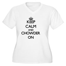 Keep Calm and Chowder ON Plus Size T-Shirt