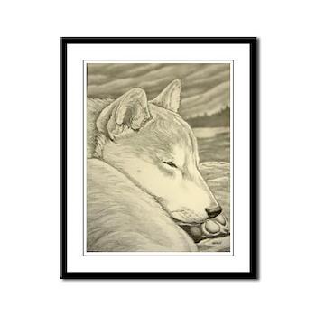 Shiba Inu Art Framed Print Dog Art Print
