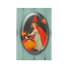 TLK002 Halloween Witch Rectangle Magnet